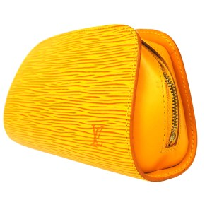 Louis Vuitton Douphine Yellow Epi Leather Pouch
