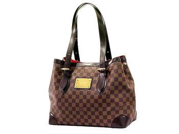 dce5ec20ecd48 Louis Vuitton Hampstead MM Damier Ebene Tote Bag - Luxurylana Boutique