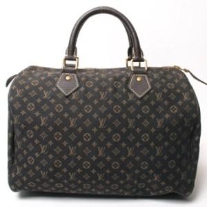 Louis Vuitton Mini Lin Ebene Speedy 30 Handbag