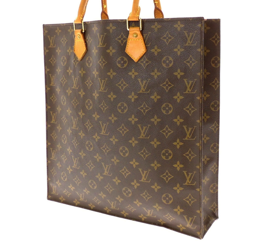 8973ef318de Louis Vuitton Monogram Sac Plat Tote Bag - Luxurylana Boutique