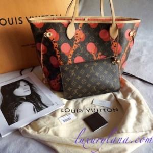 Louis Vuitton Ramages Neverfull MM Tote Handbag Wristlet