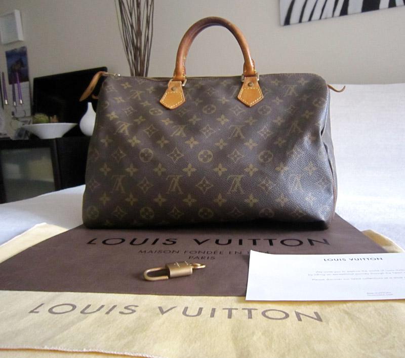 056bf979a68a Louis Vuitton Speedy 35 Monogram Handbag - Luxurylana Boutique