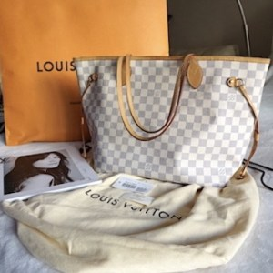 Louis Vuitton Neverfull MM Damier Azur Tote Bag