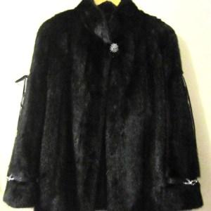 SAGA FURS Black Natural Mink Coat