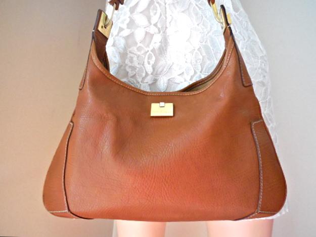 20e182dddd Salvatore Ferragamo Tan Leather Shoulder Bag - Luxurylana Boutique