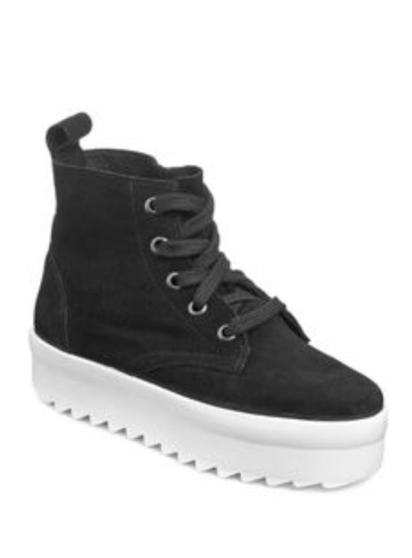 Shellys London Black Suede Murci Platform Sneakers