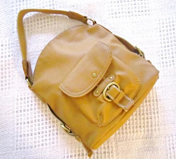 Tommy Hilfiger Mustard Leather Hobo Bag