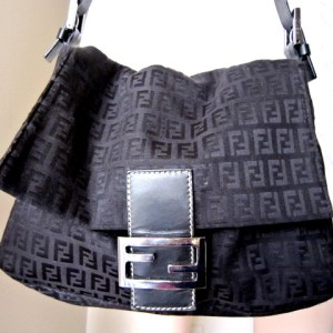 Fendi Black Zucca Shoulder Bag
