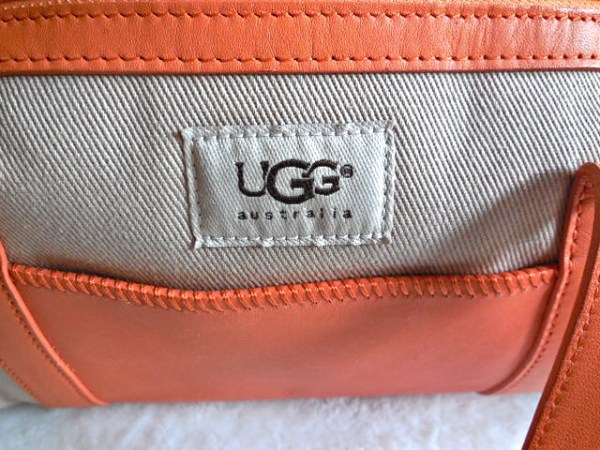 UGG Orange & Sand Papillon Handbag-4