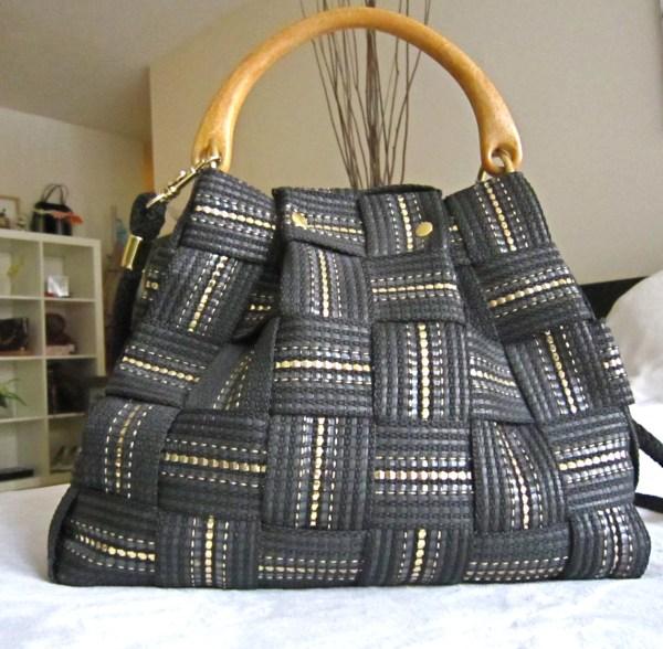 Vintage Fiona Black Shoulder Bag-1