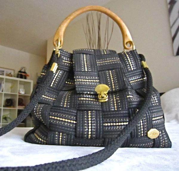 Vintage Fiona Black Shoulder Bag