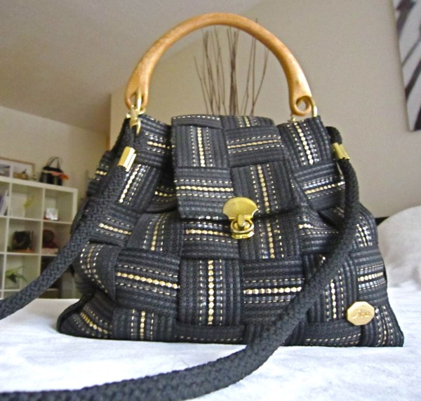 Vintage Fiona Black Shoulder Bag