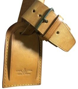 Louis Vuitton Luggage Name Tag and Handle Keeper Strap