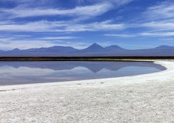 Cejar Lagoon reached by bike from San Pedro de Atacama