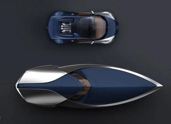 Bugatti Veyron Sang Bleu Speedboat Concept