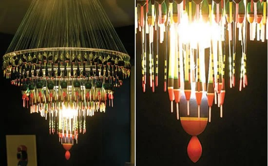Fishing Float Chandelier To Light Up A Fisher S Den
