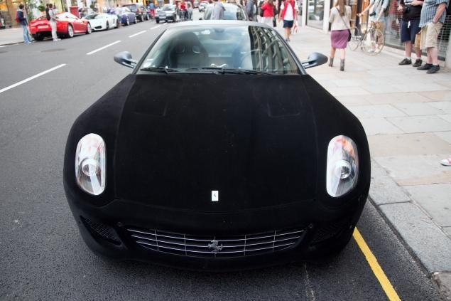 The Velvet Covered Ferrari 599 Dubbed Furrari Isn T All That Eye Catching