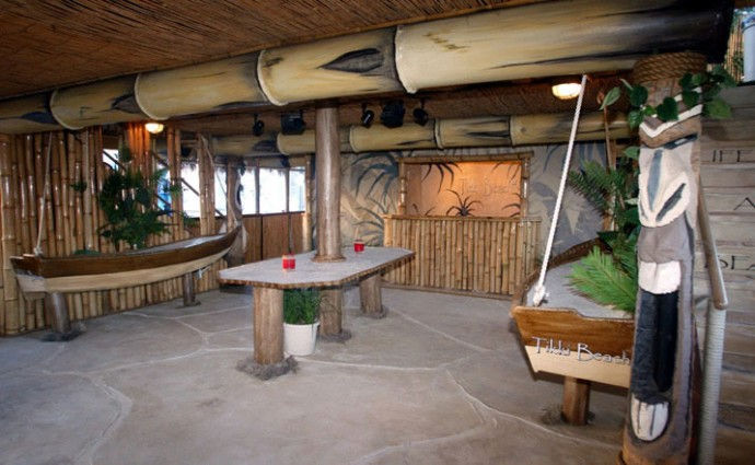 Charter The Tropical Tikki Beach Barge From Miami To West Palm