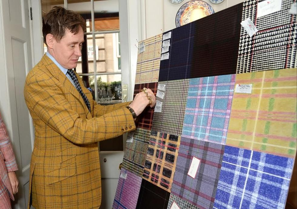 Huntsman Celebrated The Close Of The Huntsman Tweed Competition With A Private Lunch At 5 Hertford Street, W1.