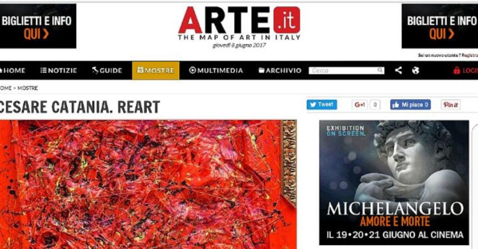 Coverage In Arte.it With Cesare Catania