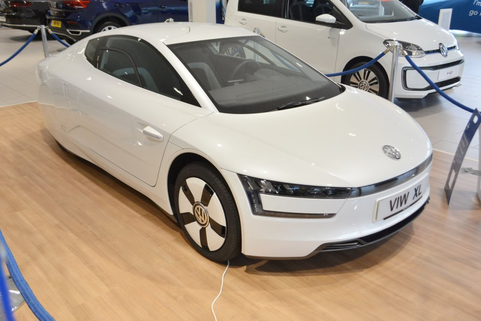 Concept Volkswagen XL1 (VW 1-Litre) On Display At Alan Day VW Garage In New Southgate
