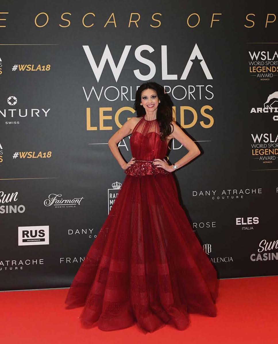Master Of Ceremonies And International Star Lorena Baricalla Hosts The MONACO WORLD SPORTS LEGENDS AWARDS 2018