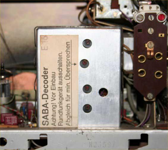 SABA Stereo I SRI-16 – SRI 18