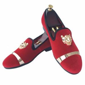 7d979241fa13 New Handmade Men Velvet Loafers Shoes White Slippers with Gold ...