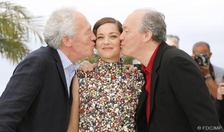 Jean-Pierre, Marion Cotillard, Luc Dardenne - 20/05 | DEUX JOURS UNE NUIT (Two days One night)