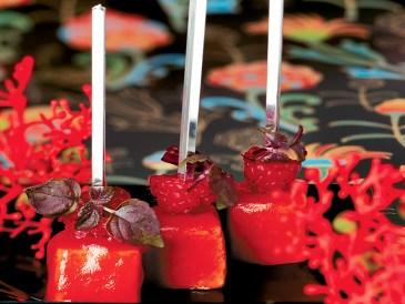 Effet Pink d'un veau tendre & d'une Framboise veloutée (Produit Réception)