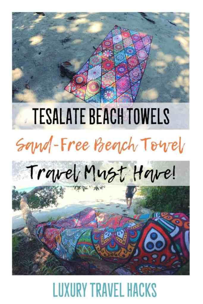 Tesalate Beach Towels - Sand-Free Beach Towel - Travel Must Have - Luxury Travel Hacks