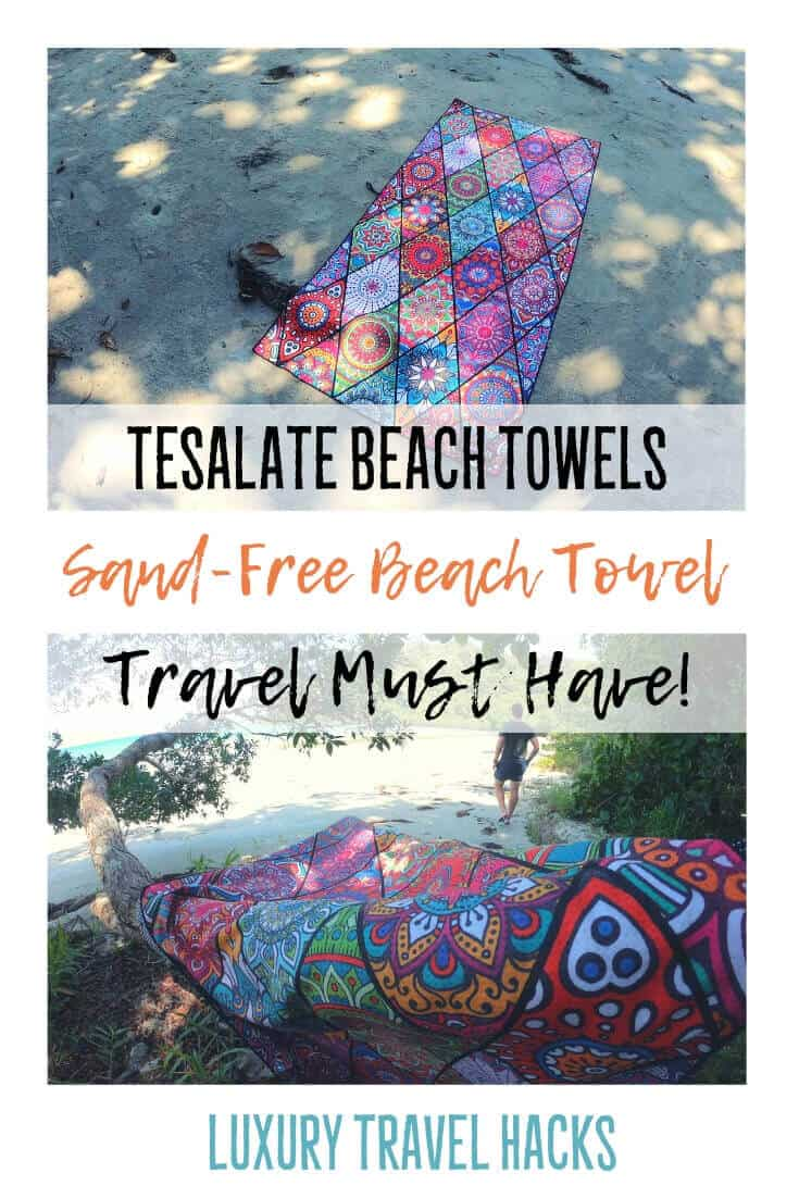 Tesalate Beach Towels - Sand-Free Beach Towel - Travel Must Have - Luxury Travel Hacks