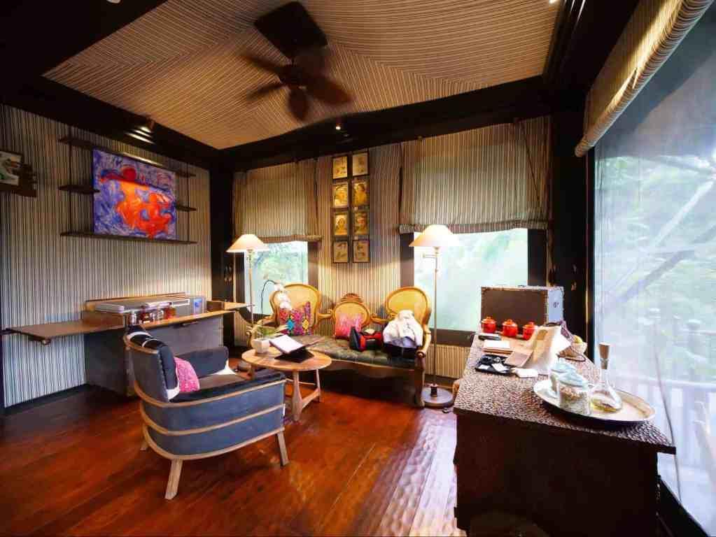 Romantic Getaways in Asia - Capella Ubud Tent Living Room - Ubud Indonesia