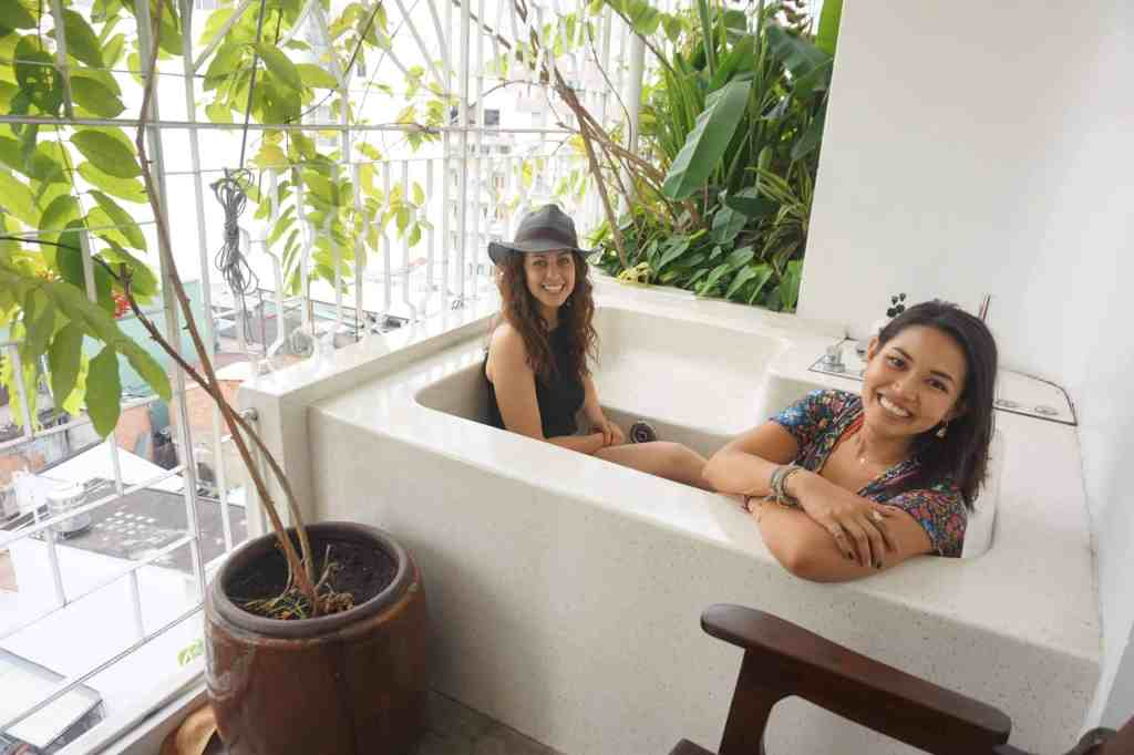 Romantic Getaways in Asia - Outdoor Tub The Myst Dong Khoi