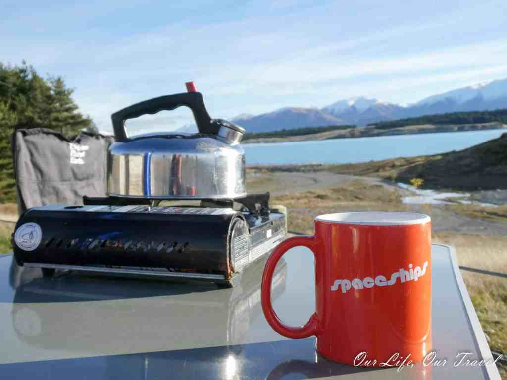 Kitchen Utensils Making Coffee - Campervan Hire New Zealand - Luxury Travel Hacks