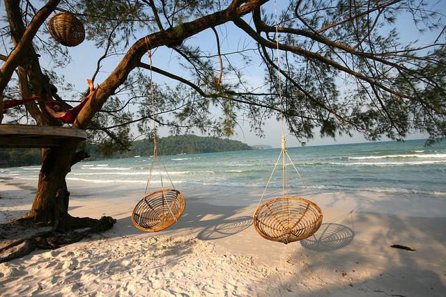 The pristine beach of Koh Rong Samloem island, Cambodia