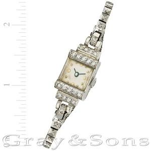 Vintage 14k white gold mm Manual watch