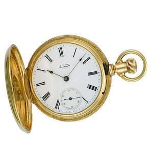 Waltham pocket watch xxx 18k White dial 48mm Manual watch