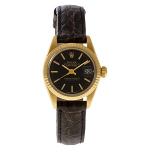 Rolex Datejust 6917 18k Yellow Gold Black dial 25mm Automatic watch