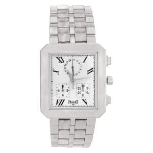 Piaget Protocol 14254 M601D 18k White Gold White dial 28mm Quartz watch