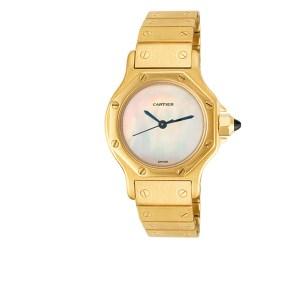Cartier Santos 18k 24mm auto watch