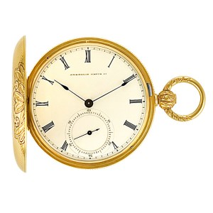American pocket watch 15045 18k White dial 44mm Manual watch