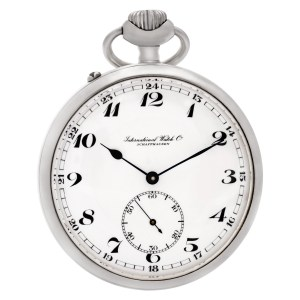 IWC pocket watch 564727 Stainless Steel White dial 55mm Manual watch