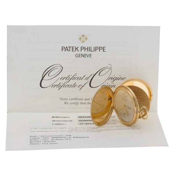 Patek Philippe  Hunter Pocket Watch 983J-001 18k Silver dial 48mm Manual watch