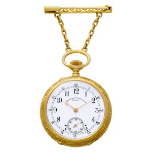 Vacheron Constantin pocket watch 185030 CASE 18k white porcelain dial 31mm Manua