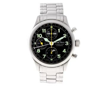 Ernst Benz Chronolunar GC10311B Stainless Steel Black dial 47mm Automatic watch