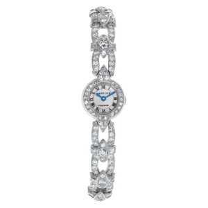 Cartier Ladies Cocktail 92826 Platinum Bracelet 4.50 cts Diamond Manual Wind