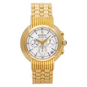 Boucheron Solis Reflet Chrono AI403835 18k White dial 39mm Auto watch 2000s