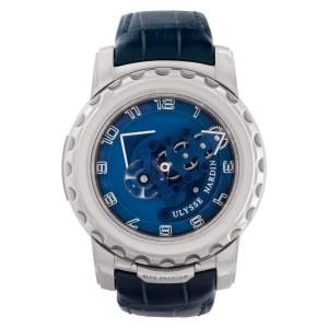 Ulysse Nardin Freak 020-81 18k White Gold Blue Phantom 45mm Manual watch