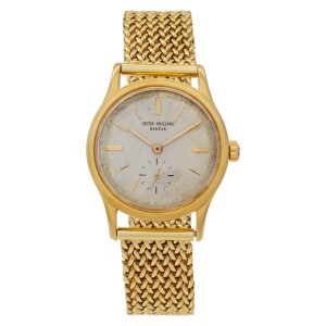 Patek Philippe Calatrava 3403 18k Silver dial 32mm Automatic watch
